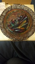 Vtg Fenton Carnival Glass  Mothers Day Plate Original box 1971 - $9.99