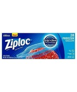Ziploc Freezer Bags with New Grip 'n Seal Technology, Gallon, 28 Count - $12.62