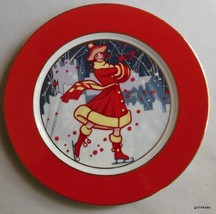"Department 56 Dessert Plate Winter Carnival 9"" Skating - $18.00"