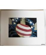 Photograph Matted Patriotic Stars and Stripes Lobster Maine Dressel 2007 - $16.40