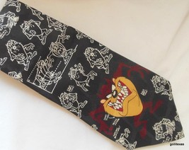 "Looney Tunes Men's Tie ""Taz the Tasmanian Devil"" Black and White - $14.40"