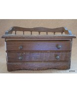 """Vintage Chest with Drawer Doll House Miniature Wood Taiwan 3"""" x 1.75"""" - $18.00"""