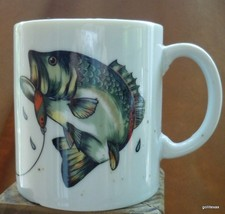 """Vintage Department 56 Mug Fly Fishing Trout 3.75"""" - $15.00"""