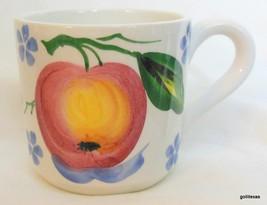 "Ancora Italy Mug Fruit Apple and Blue Flowers 3.5"" - $12.00"