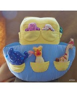 """Hand Made Noah's Ark with 12 Animals Cotton 13 x 13"""" - $18.00"""