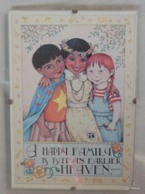 "Mary Engelbreit Print  in 5 x 7 Clip Frame ""Happy Family"" Children - $15.00"
