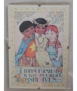 "Mary Engelbreit Print  in 5 x 7 Clip Frame ""Happy Family"" Children - $15.00"