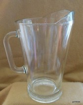 """Vintage Classic Molded Glass Pitcher 9"""" HEAVY - $35.00"""