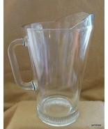 "Vintage Classic Molded Glass Pitcher 9"" HEAVY - $35.00"