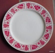 "Vintage Homer Laughlin Dinner Plate with Grape Design 9.25"" - $13.00"