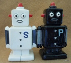 "New Magnetic Ceramic  Salt and Pepper Robots   4"" - $17.40"