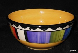 """Gibson Coupe Soup Bowl Unknown Pattern 6"""" Diameter   Vibrant Colors - $11.00"""