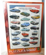 "NEW Eurographics Jigsaw Puzzle ""American Cars ""  1000 Pieces - $27.40"