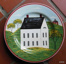 """Warren Kimble Country Life Plate White House With no Door  8"""" 1998 - $12.00"""