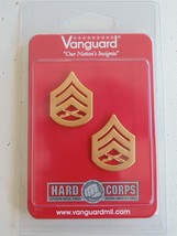 Usmc Us Marine Corps E 6 Staff Serg EAN T Uniform Gold Rank Device Insignia Pair - $11.87