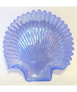Iridescent Blue Sea Shell Plate Sculptured - $40.09