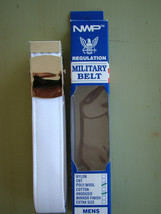 Usn Navy All Ranks Rates Enlisted P/O White Belt & Silver Buckle Dress Whites Xl - $24.74