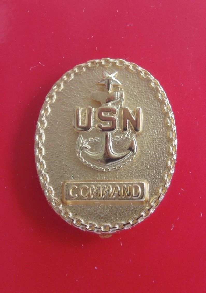 Primary image for USN NAVY COMMAND SENIOR CHIEF PETTY OFFICER FULL SIZE GOLD PLATE POCKET BADGE