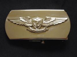 Usn Navy Naval Aviation Carrier Flight Aircrew's Air Warfare Silver Belt Buckle - $18.80
