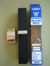 Usn Us Navy All Ranks Rates Enlisted & Petty Officer Black Belt & Silver Buckle - $21.77