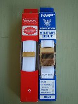 Usn Us Navy All Ranks Rates Chief & Officer White Belt & Gold Buckle For Whites - $21.77