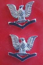 --USN Us Navy E-4 Petty Officer 3RD Class PO3 Jacket Shoulder Rank Insignia Pair - $10.88