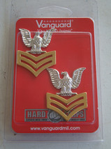 Usn Us Navy E 6 Petty Officer 1 St Class Po1 Jacket Shoulder Rank Insignia Pair G - $16.82