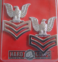 Usn Us Navy E 6 Petty Officer 1 St Class Po1 Jacket Shoulder Rank Insignia Pair - $14.84