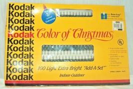VINTAGE NEW KODAK COLOR OF CHRISTMAS 100 EXTRA BRIGHT STRING LIGHT SET  - $28.28