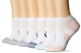 Essentials Women's 6-Pack Performance Cotton Cushioned, White, Size 6 to 9 - $10.89