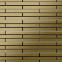 Mosaic tile massiv metal Titanium Gold brushed gold 1,6mm thick ALLOY Av... - $687.63