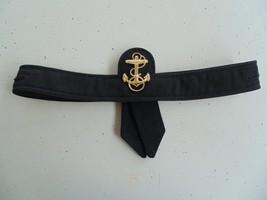 Usna Navy Female Service Dress Black Poly Wool Combination Combo Cap Tally 21.5 - $18.80