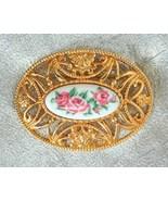 Elegant Avon Baroque Victorian Style Golden Ros... - $12.95