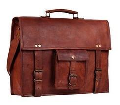 Men's Vintage Leather Messenger Shoulder Laptop Bag - Mens Brown Leather... - $80.59