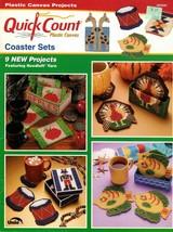 Quick Count Plastic Canvas Coaster Sets Leaflet 3053026 Apple Set Victrola  - $6.95