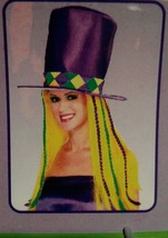 Mardi Gras Top hat with hair new 49068 - $19.79