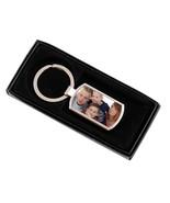 Personalized Rectangle Photo Metal Keyring keychain - $10.00