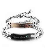 His And Her Couples Bracelets Ture Love Cubic Zirconia Jewellry - £18.25 GBP