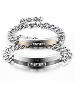 Men / Women Stainless Steel 'you are my only Love' Link Chain Bracelet - £20.68 GBP