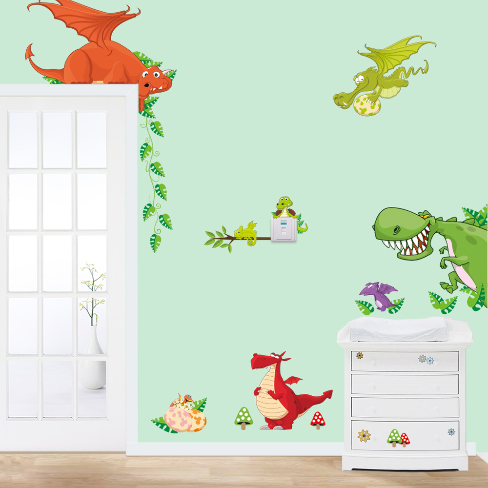 Multiple animal stickers for kids room diy home decoration for Baby welcome home decoration