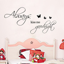 Warm KISS ME BUTTERFLY home decal wall sticker ... - $9.66