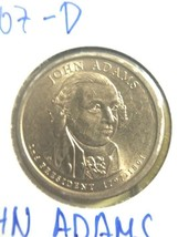 2007 D John Adams Presidential Dollar - $7.00