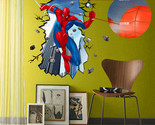 Sales Spider Man Breaking Wall Removable Vinyl Decal Wall Sticker Home Decor Art