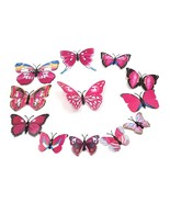 Ll stickers decors art stickers butterfly diy decorations paper sticker 8 colors 12pcs thumbtall