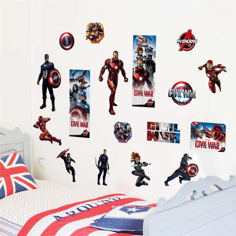 hero the avengers iron man captain america wall sticker iron man giant wall sticker wall sticker shop