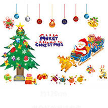 Christmas Decoration PVC Removable Display Window Showcase Decor Wall St... - $11.01