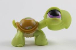 Littlest Pet Shop #350 Turtle w/ Orange Shell w/ Pink & Green Race Stripes  LPS - $6.43