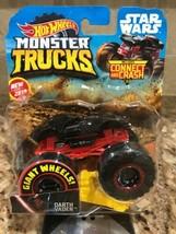 Hot Wheels 2019 Monster Trucks Star Wars DARTH VADER-Giant Wheels-FREE S... - $11.87