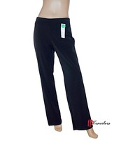 Charter Club Women's Pants Deep Black Classic Fit Size 6 Tummy Slimming ... - $17.38