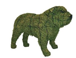 """Bulldog 25"""" Topiary Sculpture - Wire Frame, Moss Filled or Lighted - $101.99+"""